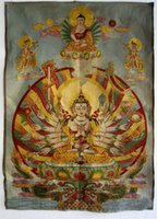 Wholesale Tibet Tibetan Silk Inwrought meditation thangka tibetan Buddhaaaa