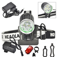 battery bicycle kit - 3800 lumen CREE T6 LED Bicycle Bike Light Headlamp Headlight kit Modes rechargable Battery Pack Rear light