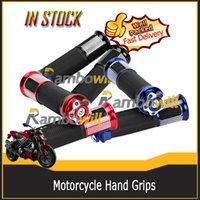 motorcycle grips - Aluminum Universal Non slip Motorcycle Handlebar Handle bar Hand Grips Fits any Motorcycles with quot Left Grip and quot Right Grip