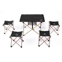Wholesale New Ultra light Aluminium Alloy Portable Folding Table Foldable Picnic Desk for Outdoor Camping g
