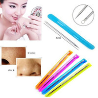 Wholesale Blackhead Remover Cleaner Tool Acne Blemish Needle Pimple Spot Extractor Beauty Makeup Facial Face Cleaning Tool DHL
