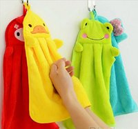 absorbent cotton rolls - Cute Animal Microfiber Kids Children Cartoon Absorbent Hand Dry Towel Lovely Towel For Kitchen Bathroom Use