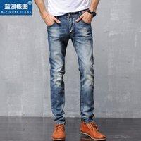 Wholesale Skinny Jeans Korean Style - Men`s Skinny Jeans 2016 New High Quality Korean Style Men Jeans Casual Men Denim Stretch Pencil Pants Ripped Jeans For Men Size 28-36