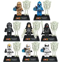 abs plastic block - 8 set star wars minifigure Environmental ABS star wars Series Bricks action figures Building Block Retail Box Package