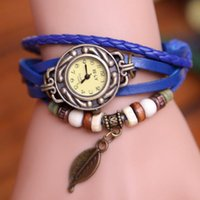 Wholesale Sell Fashion Watches Leaves Hang Women Watch Women s Bracelet Watch The Owl Color Hand made Students