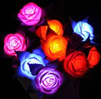 Wholesale Dream Rose Flowers Colorful Flash Simulation With Roses Lanterns Will Never Die Rose Rose Blossom Fairy Wedding Battery Bedroom Decorate Chr