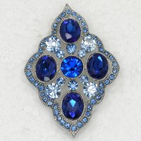 american apparel flower - Sapphire Crystal Rhinestone Wedding party prom brooches Fashion Apparel Flower Pin Brooch C801 B