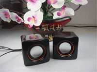 Wholesale small four square Computer Speakers Speaker computer audio computer parts