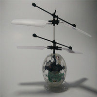 ball suspension - Induction Suspension flying Fly Ball RC Helicopter Flash Glowing ball Flash Remote Control Aircraft toys Kids children s toys Gifts