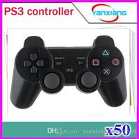 Precio de Pc joystick-Vibración Joystick sin hilos del juego de Bluetooth para el regulador sin hilos PS3 50 PC ZY-PS-01