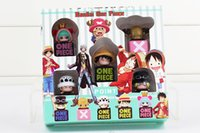 Wholesale Anime One Piece Dust Plug Mini PVC Figure Toys Trafalgar Law Luffy Sabo Chopper Sugar cm set Approx With Box