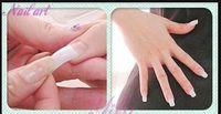 artificial nails sale - Hot sale pre design natural half cover colors false nail stickers tips fake nails acrylic artificial nails decoration