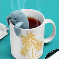 Wholesale 10 Teapot Cute Mr Sea Cow Infuser Tea Strainer Coffee Tea Sets Silicone Molds For Drink Tea