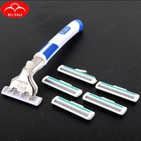 Wholesale Hot New RIMEI Manual Shaver Razor with Replaceable Blades for Men Male