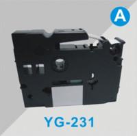 Wholesale compatible for brother label tape tze tz tape Tze231 tz231 tze mm m black on white Tze P touch Ribbon