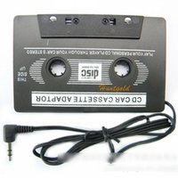 Wholesale car dvd Vintage Portable Car Cassette Tape Adapter Player Converter for PC CD DVD MD MP3
