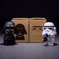 Wholesale 2015 New Arrival cm Q Style Star Wars Darth Vader STORM TROOPER Action Figure Model Toy Come with Retail Box Set