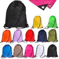 Wholesale Waterproof Solid Drawstring RuckSack Bag Sack Backpack Swim School Book Sport