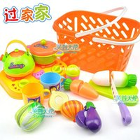 Wholesale Play house Toy Fruits and vegetables toys Tableware Kitchen playsets