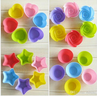 Wholesale Food grade silicone Muffin cups shapes cake cups about cm colorful baking cups cake making tools new