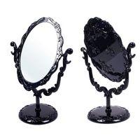 achat en gros de gothique belle-Bureau Rotatif Gothic Small Size Rose Maquillage stand Mirror Compact Black Butterfly HSD # 57700 maquillage belle