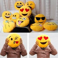 cushion - 10 Styles Cartoon emoji Pillow Soft Smiley Emoticon Pillows Kids Children Stuffed Plush Toy Halloween Christmas Xmas Gift Car Sofa Cushion