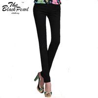wholesale blue jeans - 20 Colors New Sexy Women Pants Spring Summer Casual Elastic Jeans Pencil Pants Lady Skinny Sexy Long Trousers Candy color Jeans