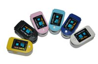 Wholesale Fingertip Pulse Oximeter SPO2 Monitor OLED Display SIX Colors D