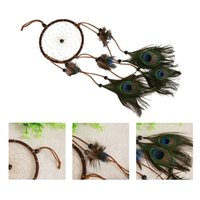 Wholesale Home Decoration ream Catcher peacock feather wall hanging decoration ornament quot Long C hot sale
