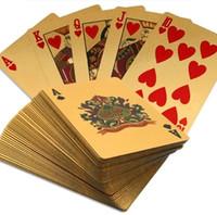 Wholesale 2015 New Arrival Poker Elegant Retro PVC Plastic Cards Texas Poker Entertainment Pokers Golden
