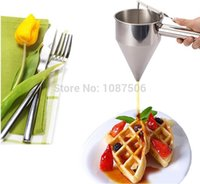 ball hoppers - Small octopus balls specialty tool stainless steel funnel utensils taper funnel hopper good quality
