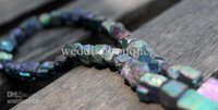 Wholesale 8 mm Natural pyrite plating colorful ore natural crystal Scattered beads DIY accessories popular models