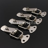 Wholesale New Silver Case Box Chest Spring Loaded Iron Tone Draw Lock Toggle Latch order lt no track