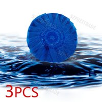 automatic glasses cleaner - 3pcs Creative Home Supplies Blue Bubble Toilet Cleaner Ball Bowl Cleanser Bathroom Automatic Cleaning Free Ship AIA00006B