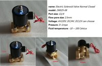 Wholesale Brass All copper G quot W025 Electric Solenoid Valve Water Air Fuels Gas Normal Closed N C V AC Option DC12V DC24V