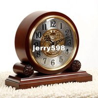 antique seiko watch - 100 real picture Wellington Antique clock clock retro living room European style table clock chime antique watches Seiko core Decoration