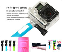 Wholesale World s Shortest Supreme Mini Wired Selfie Stick With Cable Handheld Monopod Selfie with retail box