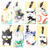 bb names - 50pcs LJJC3484 High Quality Star Wars The Force Awaken BB XO Pudding Dog Silicone Luggage Tag Name Label Travel Suitcase Tag Luggage Tag