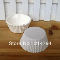 Set shower base - 1000pcs Disposable Plain White Cupcake Liners Paper Baking Cups Muffin Cake Case Base mm Baby Shower Decoration