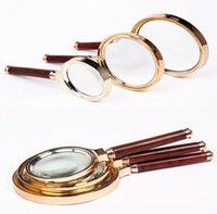 Wholesale 2015 mm mm mm Handheld X Magnifier Magnifying Big Glass Lens Loupe Readinge Jwelry Tools Equipment