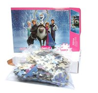 Wholesale Frozen Puzzle Jigsaw Educational Toys For Children Intelligence Development Educational Jigsaw Frozen Family Printed Christmas Gifts Box