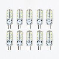 Wholesale 10pcs High quality Silicone G4 LED Crystal Droplight lamp W LED light DC12V LED Corn Bulb Chandelier beads