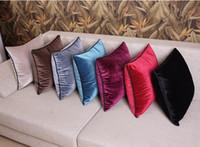 Wholesale Cushion Cover Office Lumbar Velvet Fabric Cushion Cover Sofa Cushion Cover Square Luxury Classical Brief Plane Colors x45cm quot x17 quot