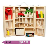 Wholesale Christmas gifts Kids Wooden Multifunctional Tool Set Maintenance Box Wooden Toy