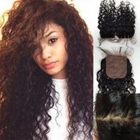 Cheap Silk Closure Water Wave Virgin Brazilian Natural Wave Silk Base Closure Brazilian Hair Silk Base Closure