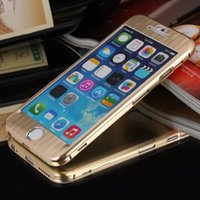 slim - For iphone inch Luxury Aluminium Metal Full Body Front Back Slim Brushed Hard Case For iphone6