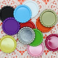 Wholesale 1 inch Flattened Bottle Caps In Double side Colors Clear Epoxy Bottle Cap DIY hairbow OEM mm H1826