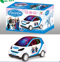 Wholesale Frozen toy cars children gifts D light and music car Frozen Electronic Musical Instrument Freezing Car kids toys