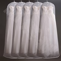 suit cover suit bag garment bag - Hot Selling Suit Long Train Wedding Evening Dress Garment Dust proof Cover Bag Storage Bags Thicken Bag Clips Housekeeping