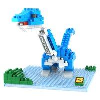 best dinosaur toys - Jurassic Park Dinosaur Brontosaurus Animal model plastic D Diamonds building block brick boys kids educational toy LOZ9488 Best Gift